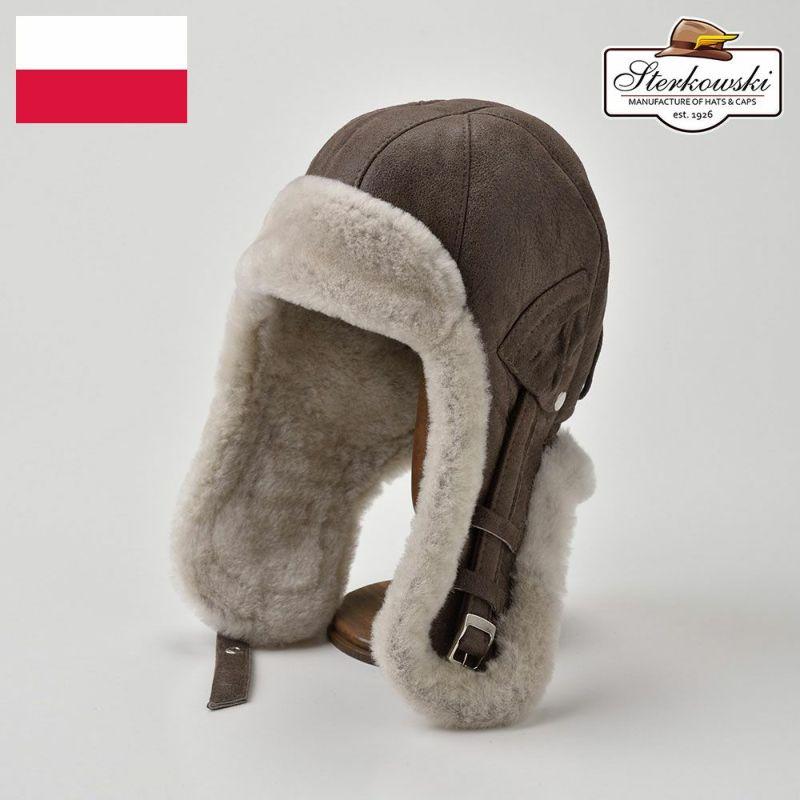 帽子 飛行帽 Sterkowski(ステルコフスキー) Delling(デリング)ブラウン
