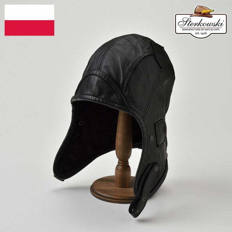 帽子 飛行帽 Sterkowski(ステルコフスキー) Narvi(ナルヴィ)ブラック