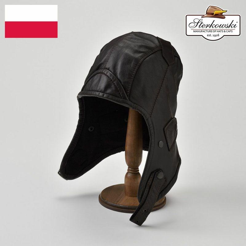 帽子 飛行帽 Sterkowski(ステルコフスキー) Narvi(ナルヴィ)ブラウン