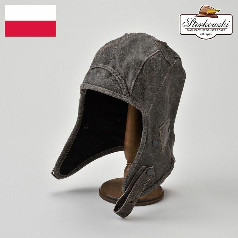 帽子 飛行帽 Sterkowski(ステルコフスキー) Narvi(ナルヴィ)グレー