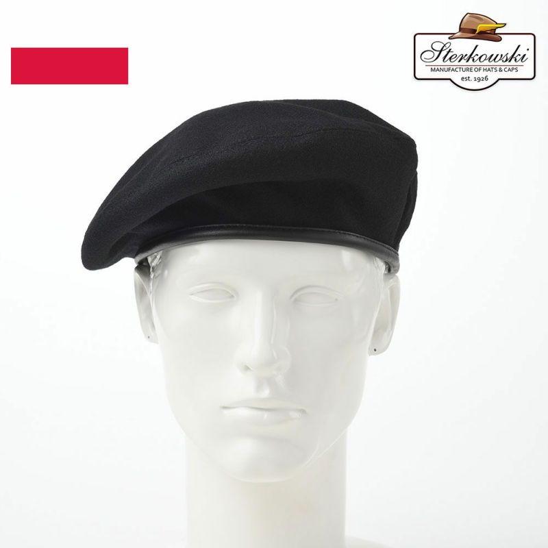 帽子 ベレー帽 Sterkowski(ステルコフスキー) Sosabowski(ソサボフスキー)ブラック