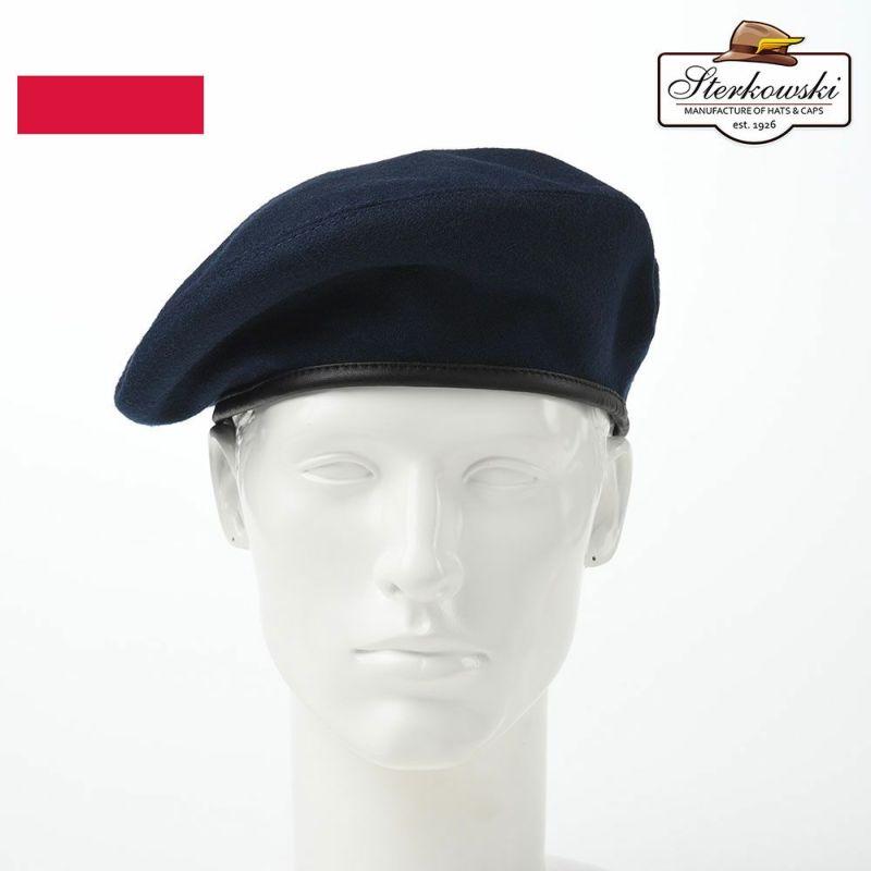 帽子 ベレー帽 Sterkowski(ステルコフスキー) Sosabowski(ソサボフスキー)ブルー