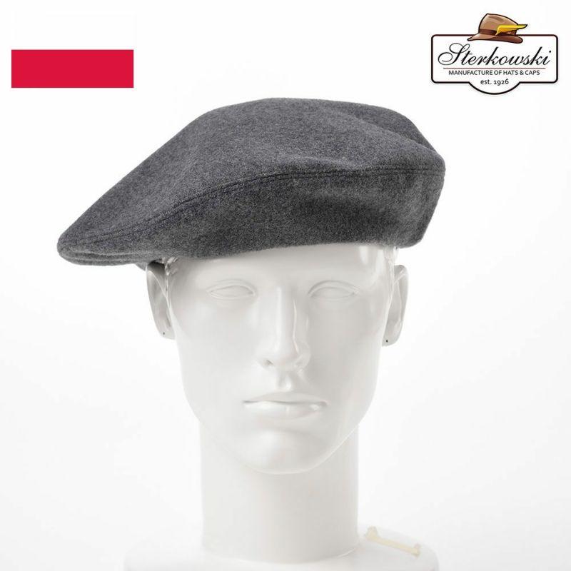 帽子 ベレー帽 Sterkowski(ステルコフスキー) Grand Classic Beret(グランドクラシック ベレー)グレー