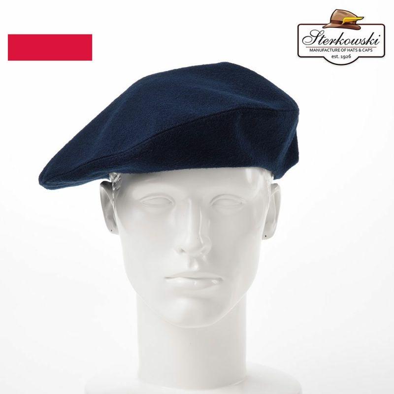 帽子 ベレー帽 Sterkowski(ステルコフスキー) Grand Classic Beret(グランドクラシック ベレー)ネイビーブルー