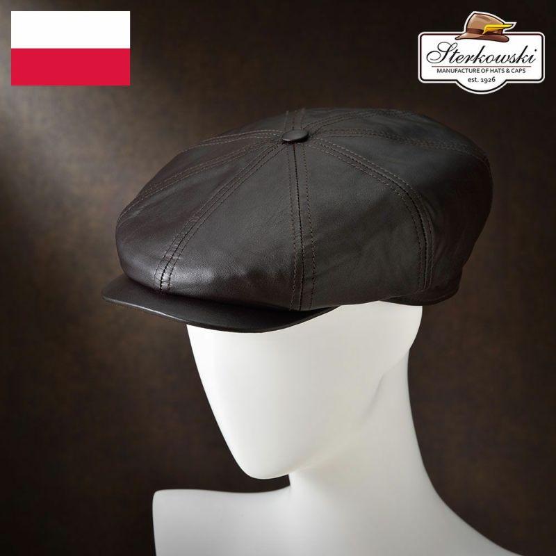帽子 キャスケット Sterkowski(ステルコフスキー) Splendor(スプレンダ)ブラウン