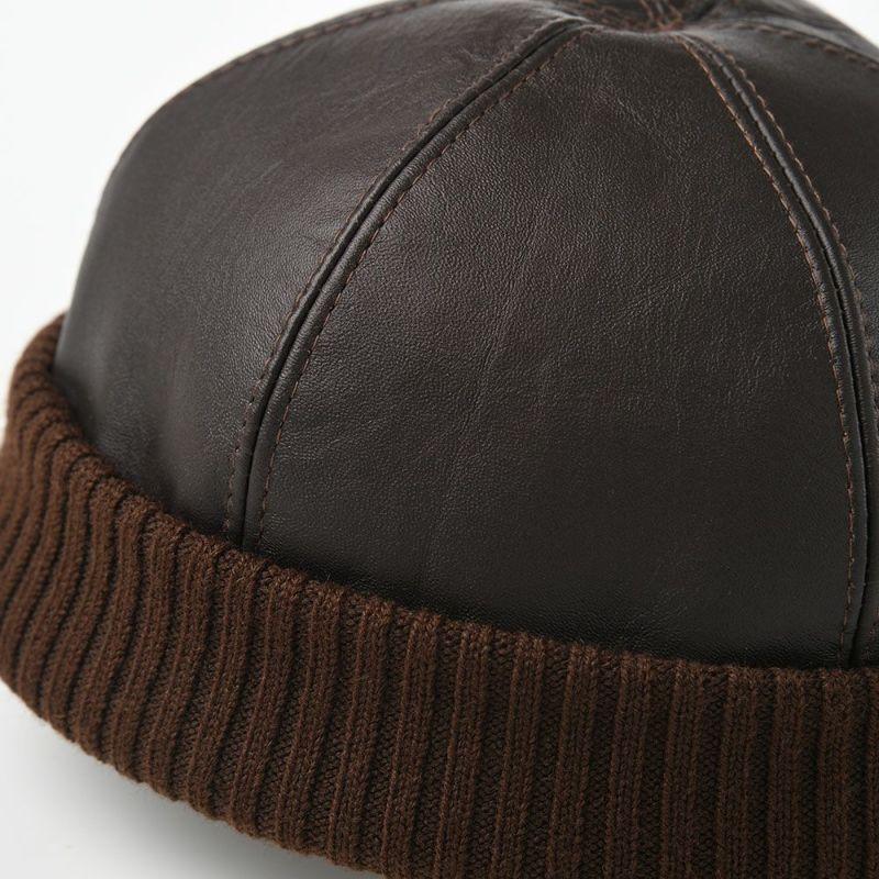 Leather beanie cap(レザービーニーキャップ)ブラウン