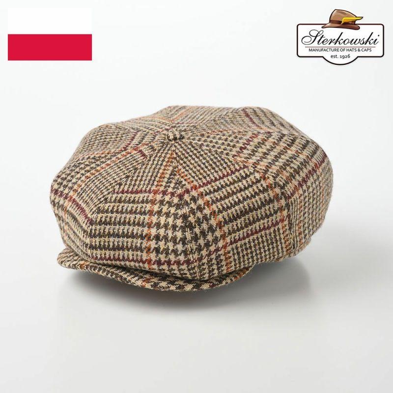 帽子 ハンチング Sterkowski(ステルコフスキー) Peaky Blinders Harris Tweed(ピーキーブラインダーズ ハリスツイード)ベージュチェック