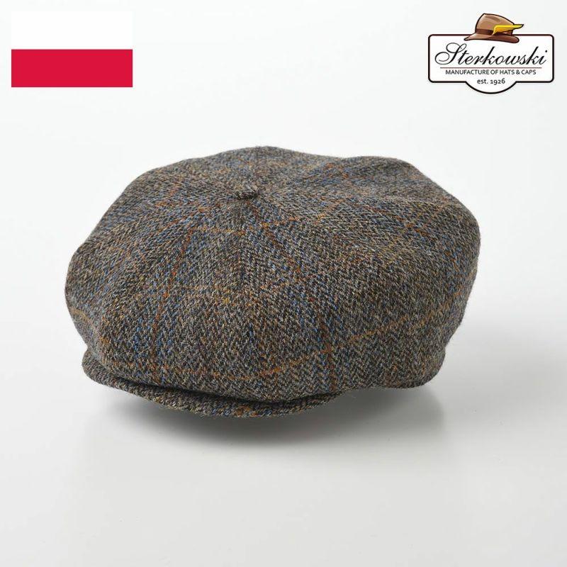 帽子 ハンチング Sterkowski(ステルコフスキー) Peaky Blinders Harris Tweed(ピーキーブラインダーズ ハリスツイード)ブラウンチェック