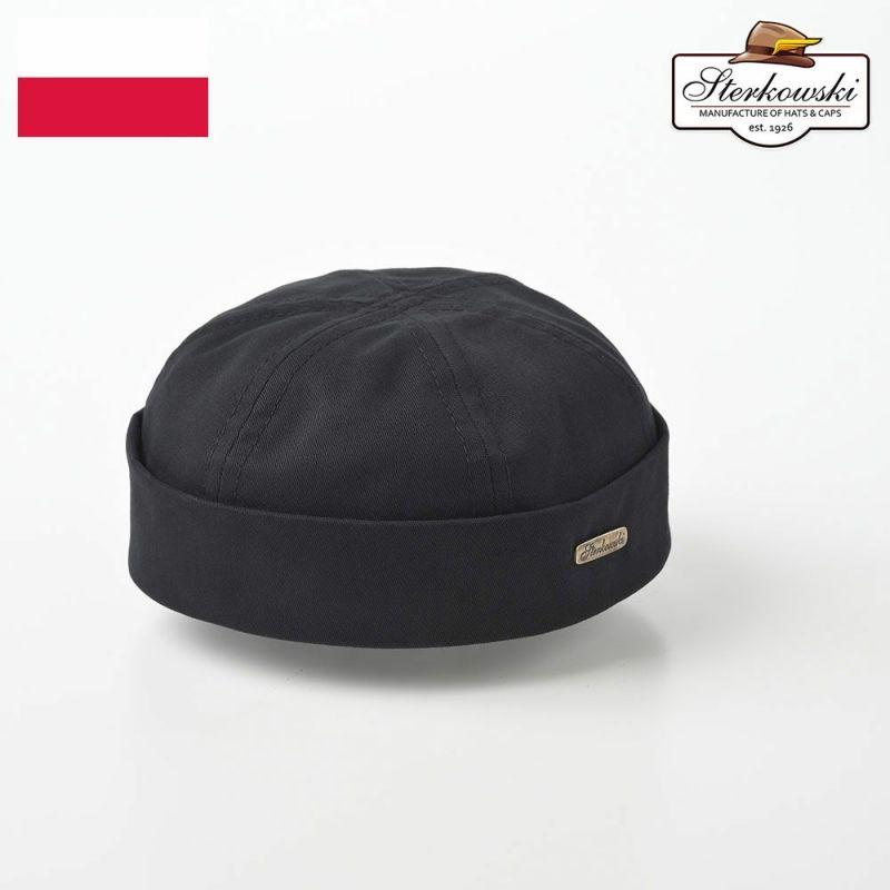 帽子 ロールキャップ Sterkowski(ステルコフスキー) Dockers Cotton(ドッカーズ コットン)ブラック