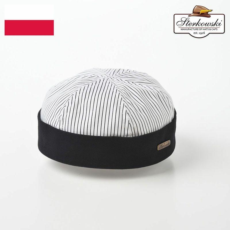 帽子 ロールキャップ Sterkowski(ステルコフスキー) Dockers Cotton(ドッカーズ コットン)ホワイトブラック