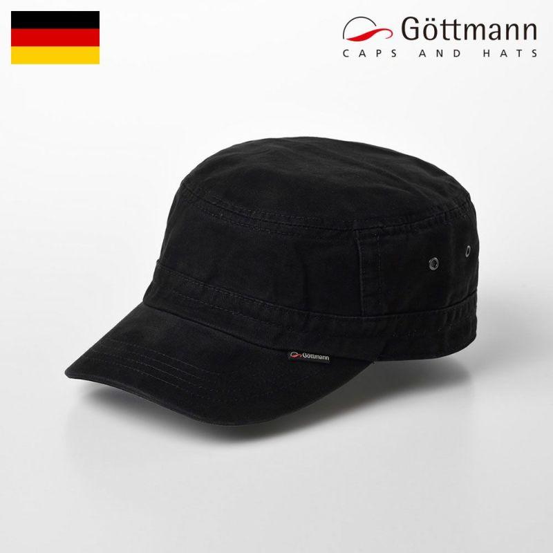 帽子 ハンチング Gottmann(ゴットマン) Santiago cap(サンティアゴ キャップ)ブラック