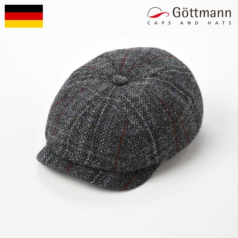帽子 ハンチング Gottmann(ゴットマン) Kingston Harris Tweed(キングストン ハリスツイード)G2333328 グレー