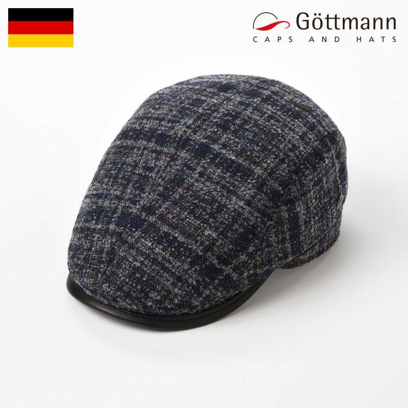 帽子 ハンチング Gottmann(ゴットマン) Xaviera Over Check(ザビエラ オーバーチェック)G2664513 ブルーグレー