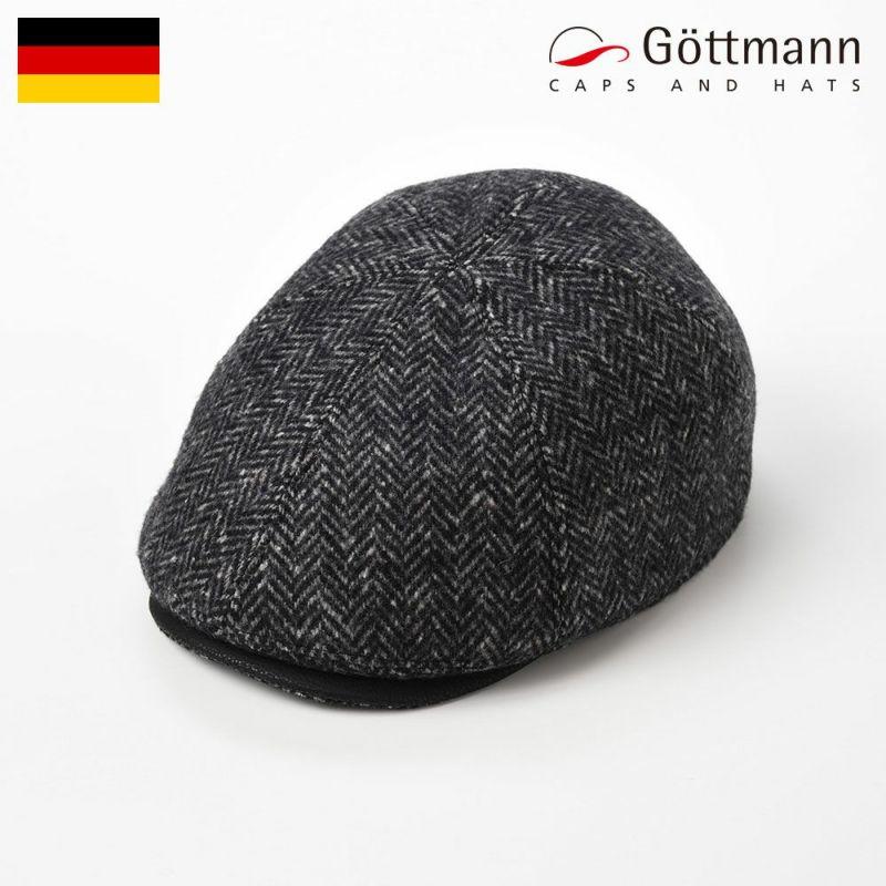 帽子 ハンチング Gottmann(ゴットマン) Memphis Herringbone Wool(メンフィス ヘリンボーン ウール)G2658300 ブラック