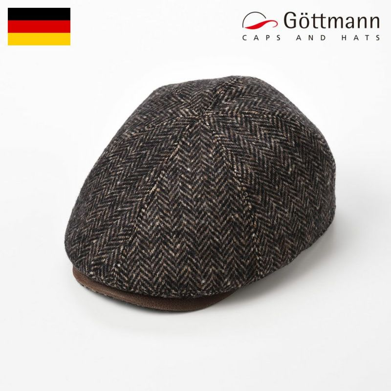 帽子 ハンチング Gottmann(ゴットマン) Memphis Herringbone Wool(メンフィス ヘリンボーン ウール)G2658300 ブラウン
