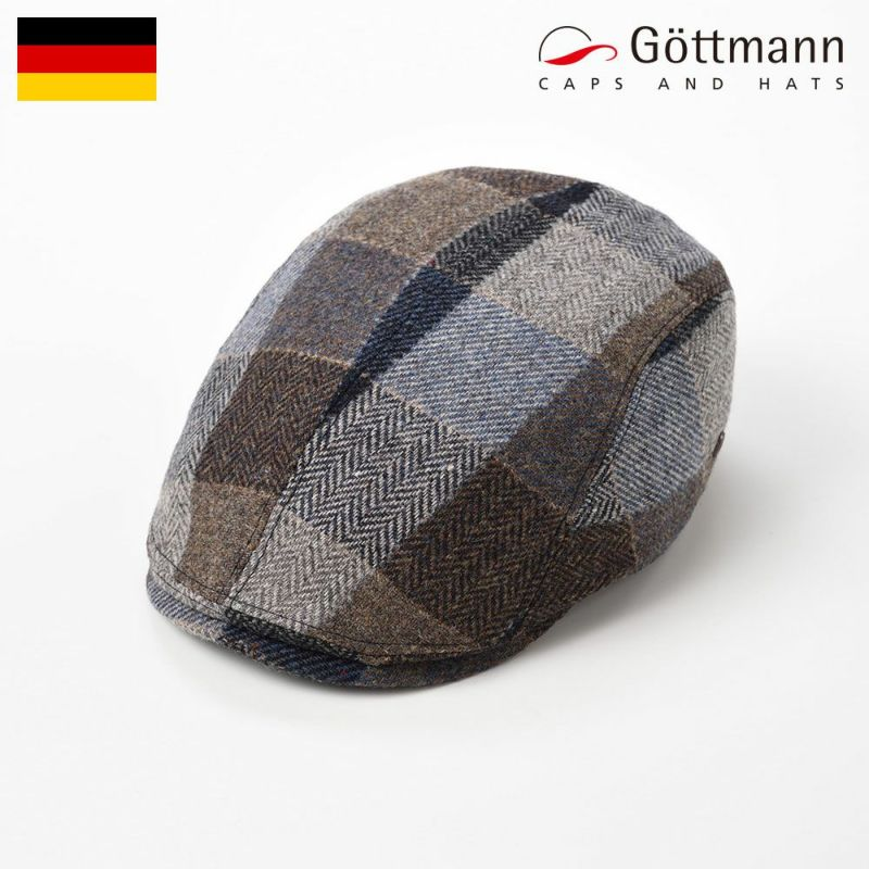 帽子 ハンチング Gottmann(ゴットマン) Jackson Block Check(ジャクソン ブロック チェック)G2696321 ベージュチェック
