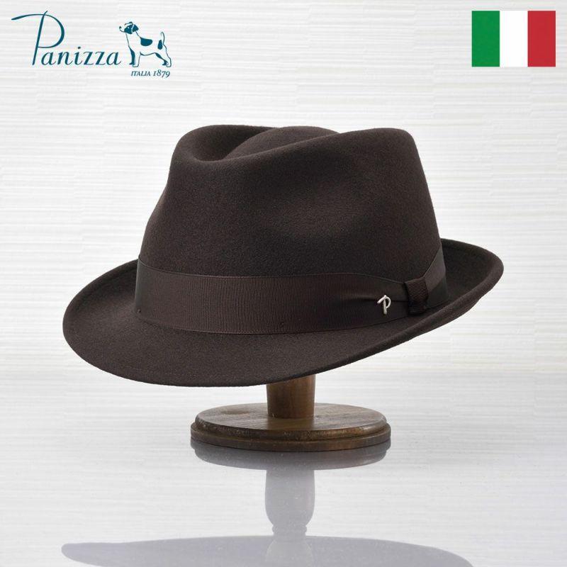 帽子 フェルトハット Panizza(パニッツァ) BARI CHIANTI(バリ シャンティ)ダークブラウン
