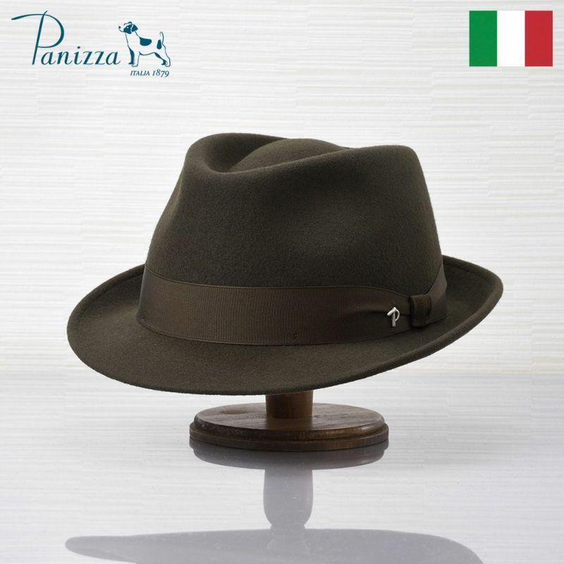帽子 フェルトハット Panizza(パニッツァ) BARI CHIANTI(バリ シャンティ)ダークグリーン