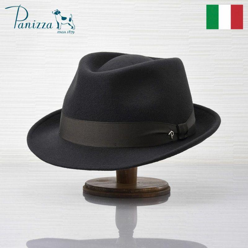 帽子 フェルトハット Panizza(パニッツァ) BARI CHIANTI(バリ シャンティ)ダークグレー