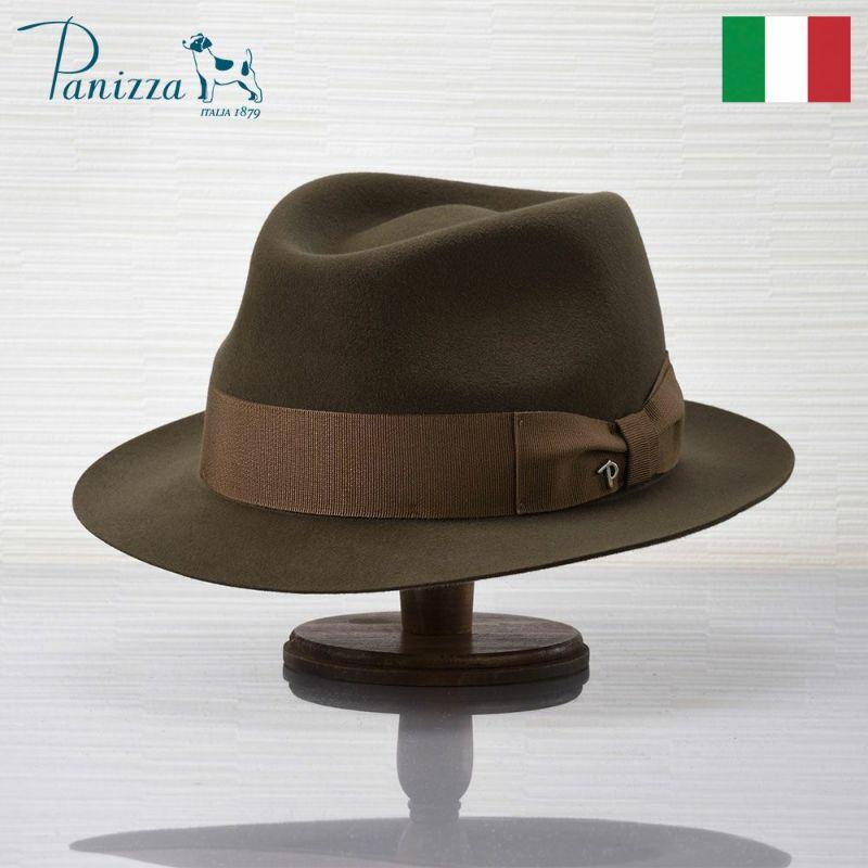 帽子 フェルトハット Panizza(パニッツァ) LECCO CASENTINO(レッコ カセンティーノ)ライトブラウン