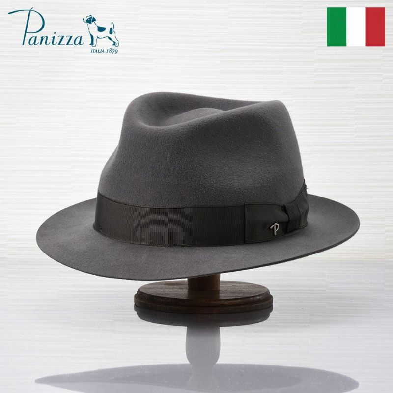 帽子 フェルトハット Panizza(パニッツァ) LECCO CASENTINO(レッコ カセンティーノ)グレー
