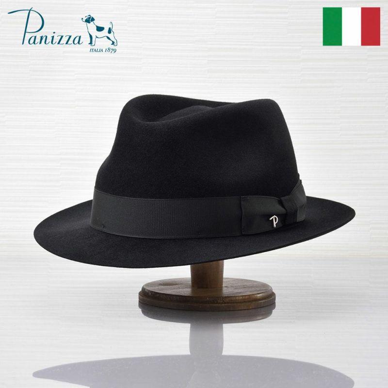 帽子 フェルトハット Panizza(パニッツァ) LECCO CASENTINO(レッコ カセンティーノ)ブラック