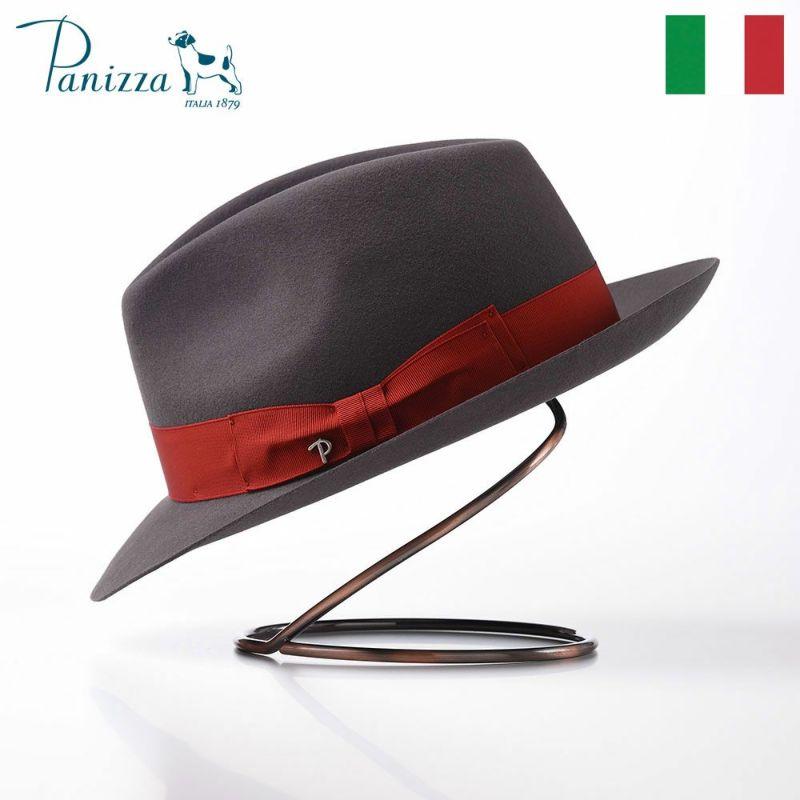 帽子 フェルトハット Panizza(パニッツァ) PISA ALLA MODA(ピサ アラ モダ)グレー