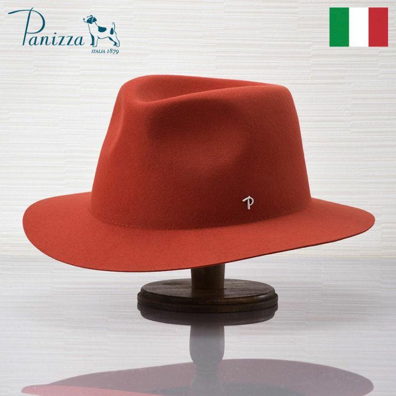 帽子 フェルトハット Panizza(パニッツァ) LATINA AMIATA(ラティーナ アミアタ)オレンジ