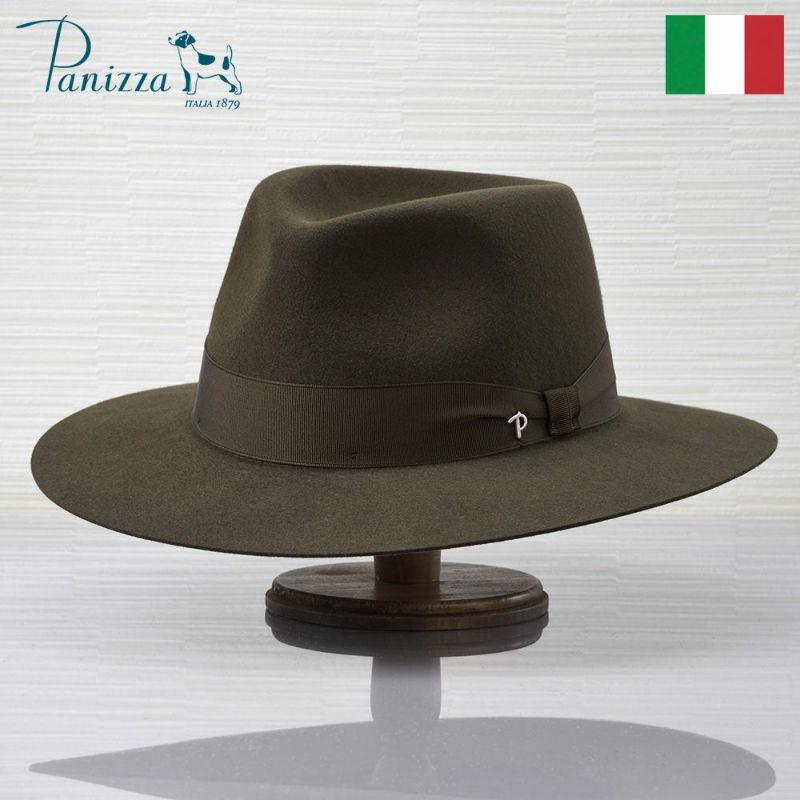 帽子 フェルトハット Panizza(パニッツァ) ASTI VALDARNO(アスティ ヴァルダルノ)ダークグリーン