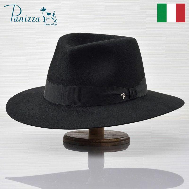 帽子 フェルトハット Panizza(パニッツァ) ASTI VALDARNO(アスティ ヴァルダルノ)ブラック