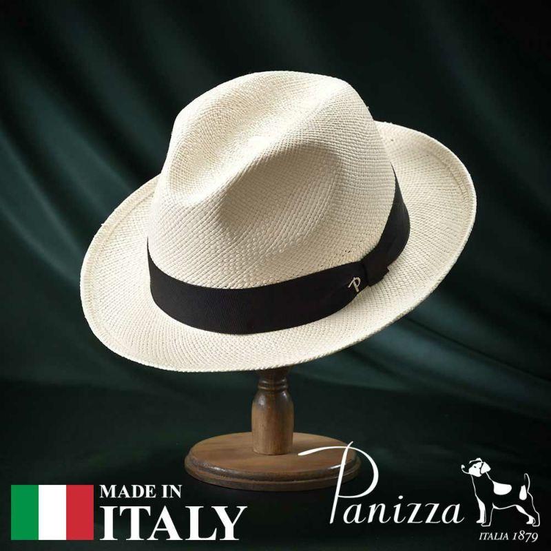 帽子 パナマハット Panizza(パニッツァ) SANREMO SEMIBIANCO(サンレモ セミビアンコ)