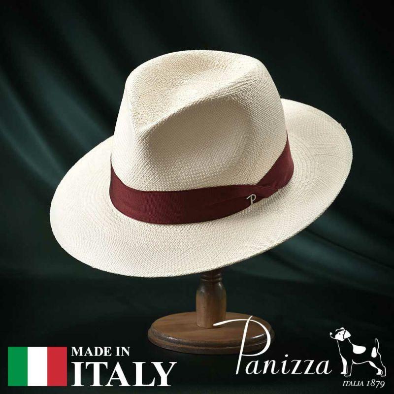 帽子 パナマハット Panizza(パニッツァ) ZAMORA SEMIBIANCO(サモーラ セミビアンコ)