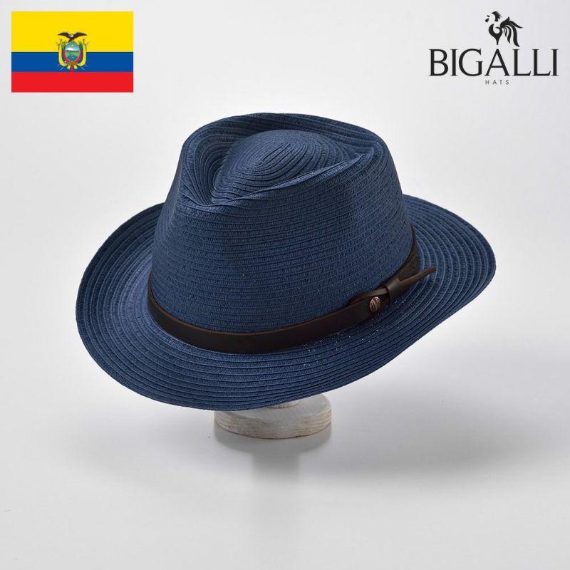 帽子 ブレードハット BIGALLI(ビガリ) MELBOURNE BRAID(メルボルン ブレード)ネイビー