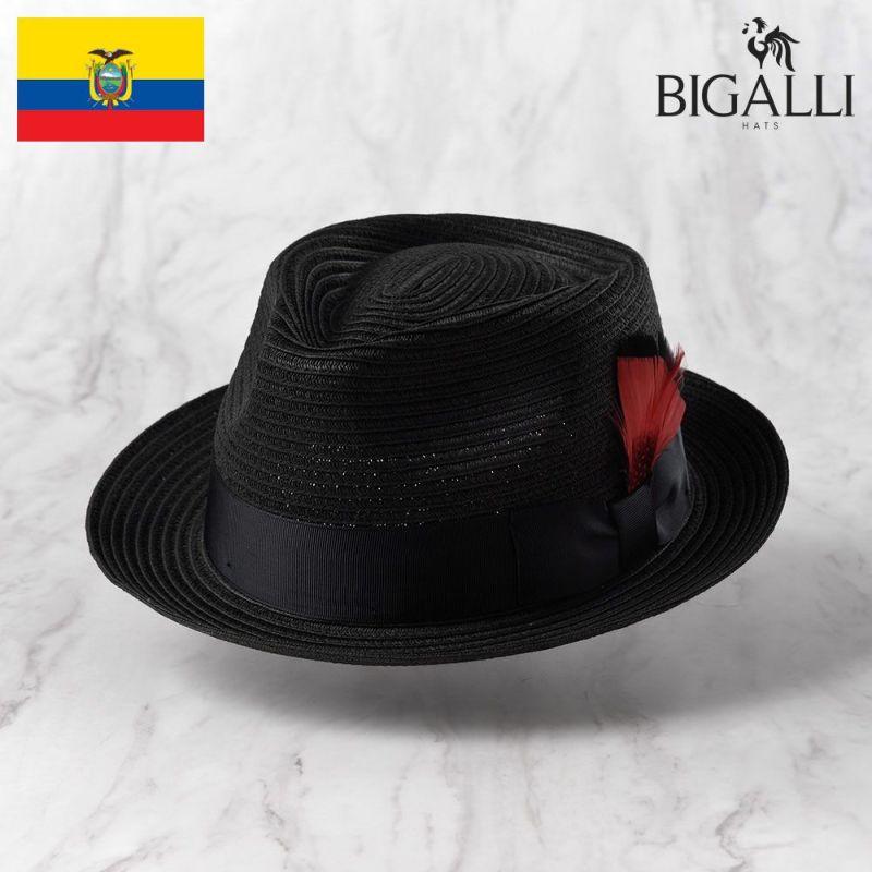 帽子 ブレードハット BIGALLI(ビガリ) ALESSANDRO BRAID(アレッサンドロ ブレード)ブラック