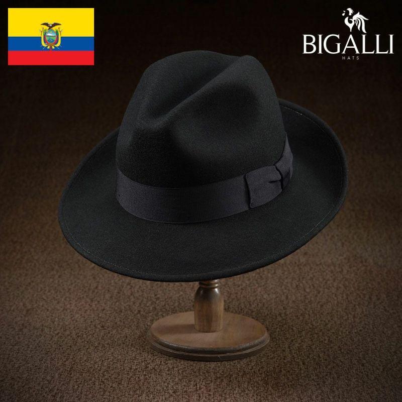 帽子 フェルトハット BIGALLI(ビガリ) ELRIC(エルリック)ブラック