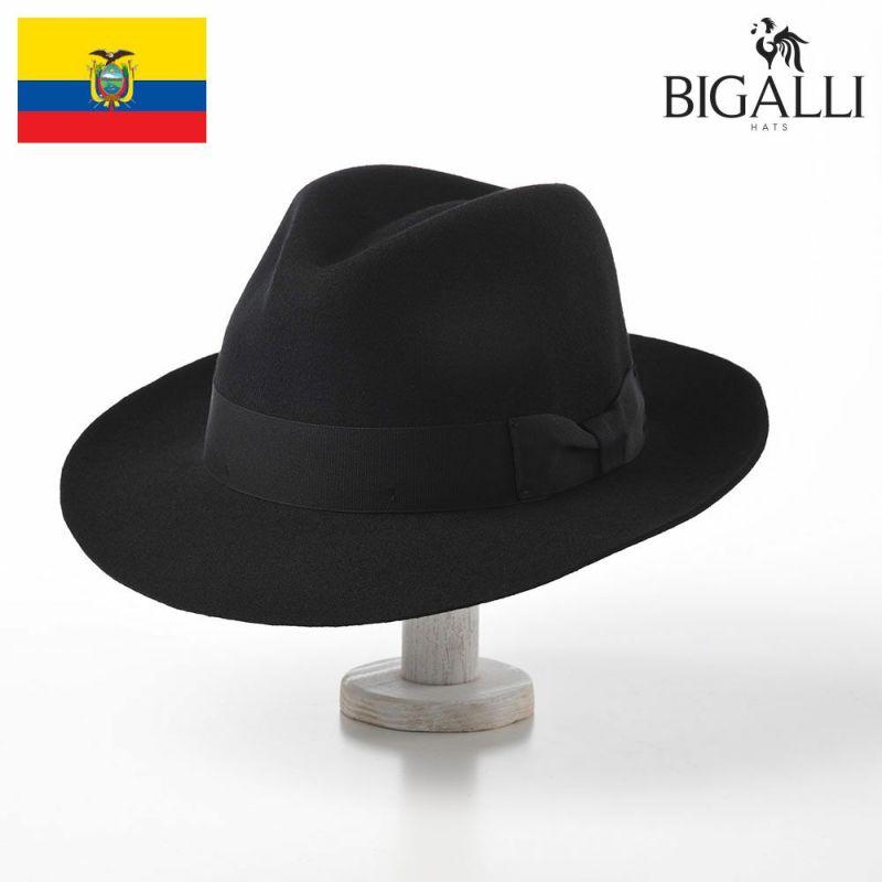帽子 フェルトハット BIGALLI(ビガリ) ALFREDO(アルフレード)ブラック