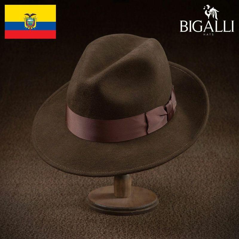 帽子 フェルトハット BIGALLI(ビガリ) PASODOBLE(パソドブレ)チョコレート