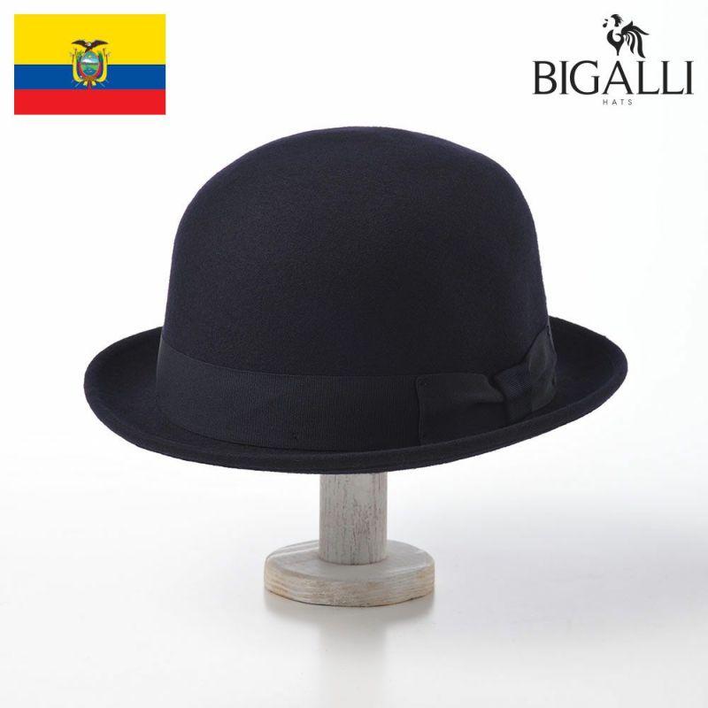 帽子 フェルトハット BIGALLI(ビガリ) RONDA(ロンダ)ネイビー