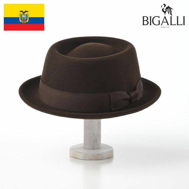 帽子 フェルトハット BIGALLI(ビガリ) PLATITO(プラティート)チョコレート