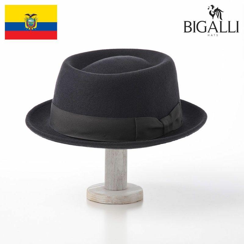 帽子 フェルトハット BIGALLI(ビガリ) PLATITO(プラティート)ダークグレー