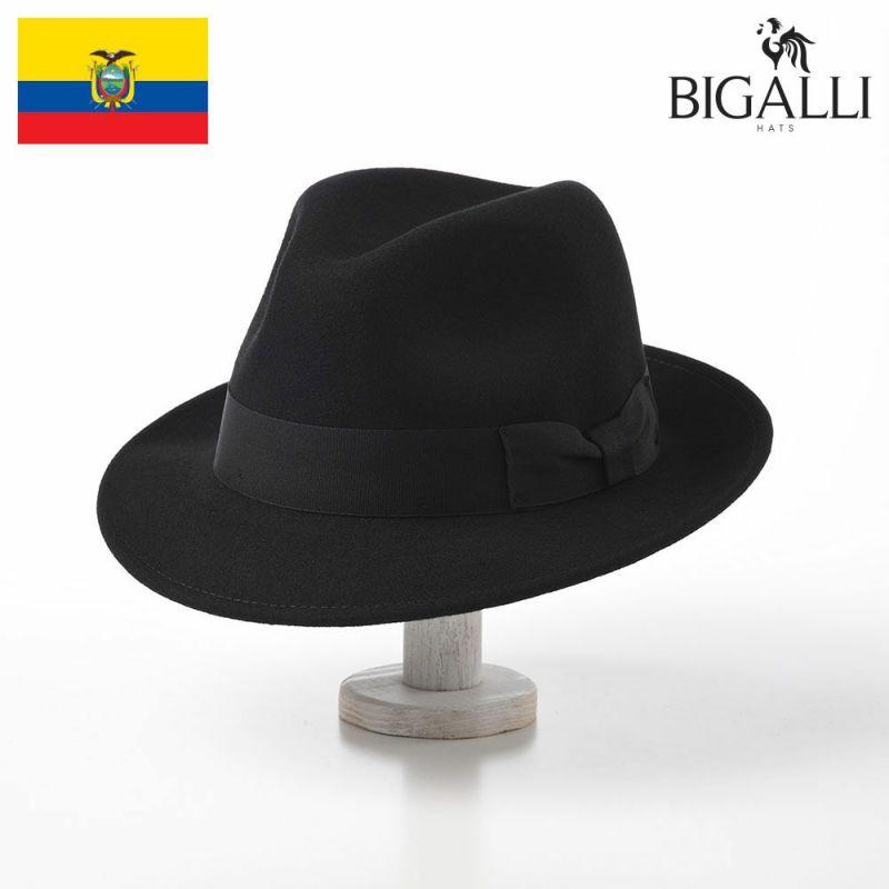 帽子 フェルトハット BIGALLI(ビガリ) AVANTE(アバンテ)ブラック