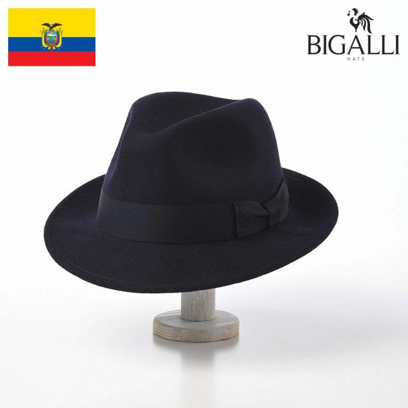 帽子 フェルトハット BIGALLI(ビガリ) AVANTE(アバンテ)ネイビー