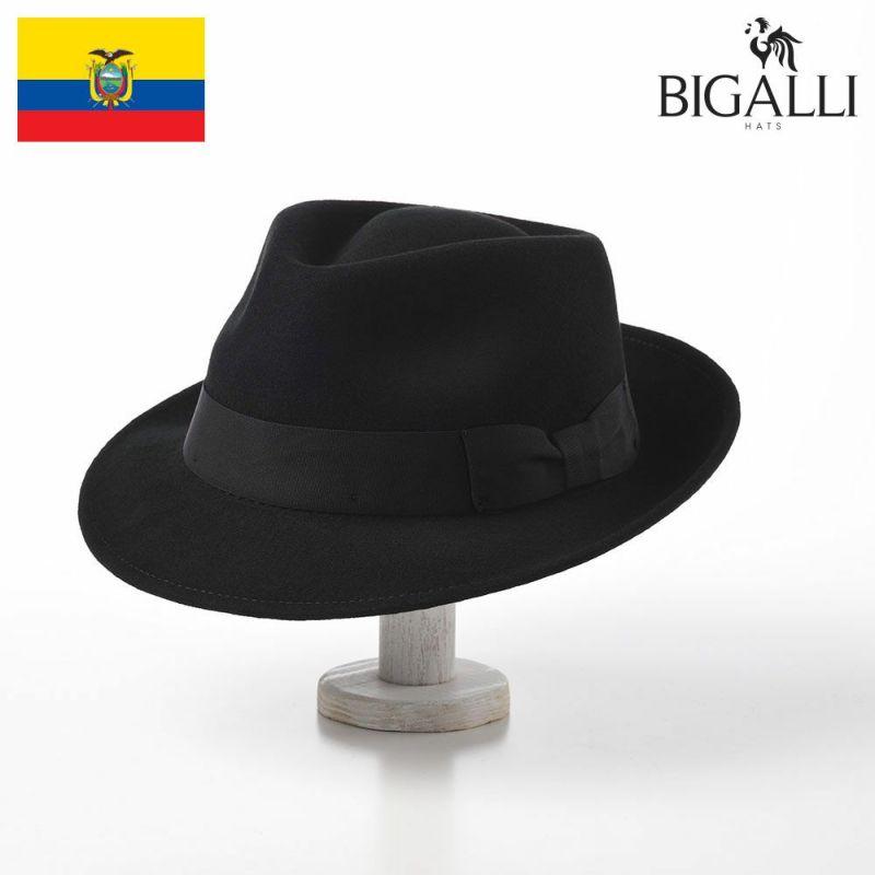 帽子 フェルトハット BIGALLI(ビガリ) PLOMO(プロモ)ブラック