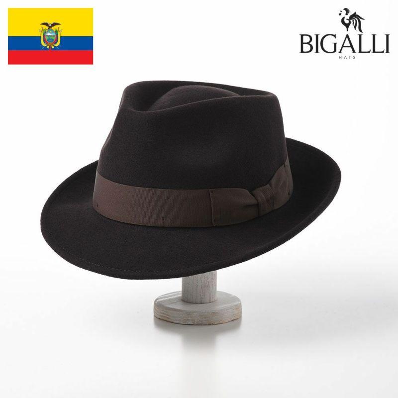 帽子 フェルトハット BIGALLI(ビガリ) PLOMO(プロモ)ダークブラウン