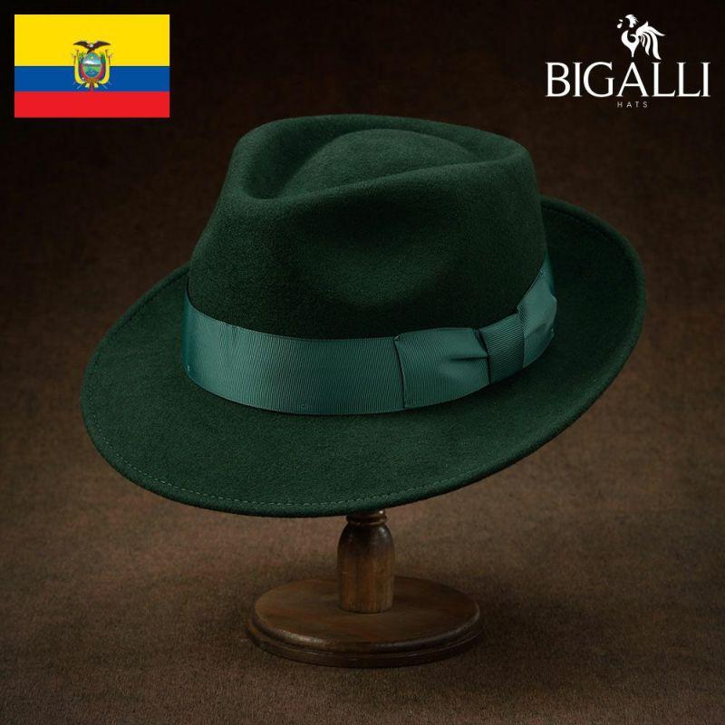 帽子 フェルトハット BIGALLI(ビガリ) PLOMO(プロモ)ダークグリーン