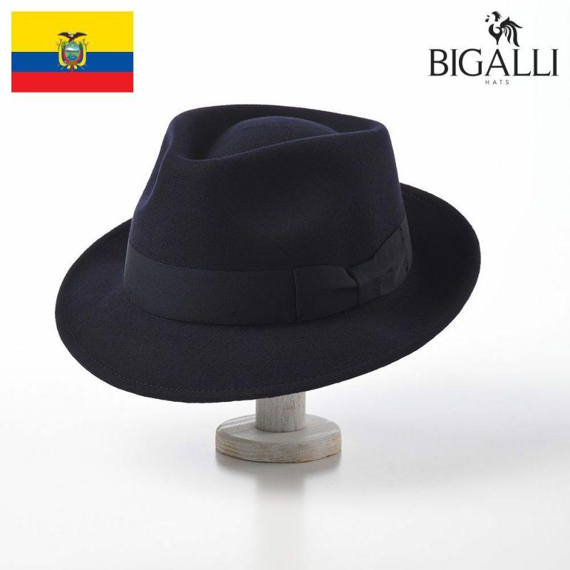 帽子 フェルトハット BIGALLI(ビガリ) PLOMO(プロモ)ネイビー