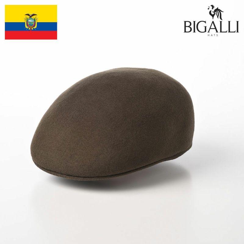 帽子 フェルトハット BIGALLI(ビガリ) PLANETA(プラネタ)モスグリーン