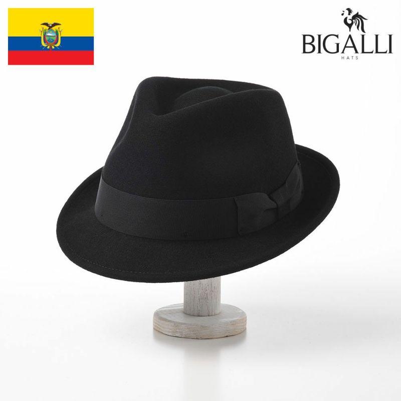 帽子 フェルトハット BIGALLI(ビガリ) RICARDO(リカルド)ブラック