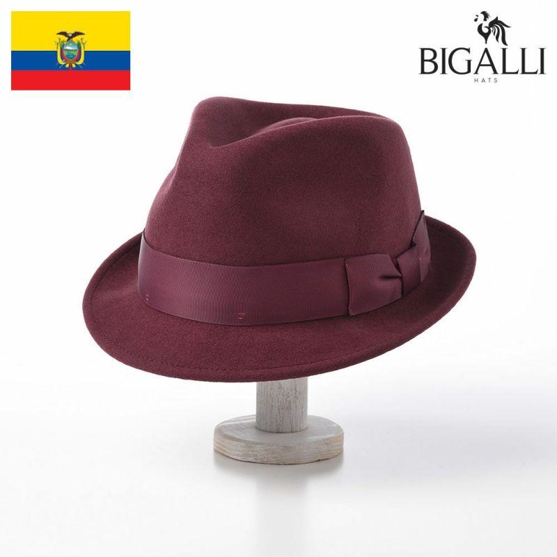 帽子 フェルトハット BIGALLI(ビガリ) RICARDO(リカルド)バーガンディ
