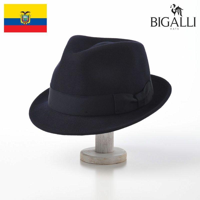 帽子 フェルトハット BIGALLI(ビガリ) RICARDO(リカルド)ネイビー
